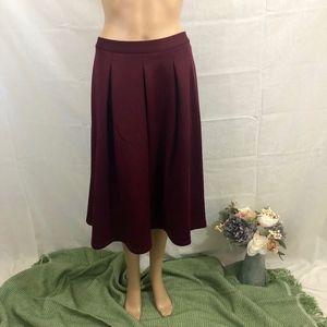Chelsea & Theodore Maroon Skirt